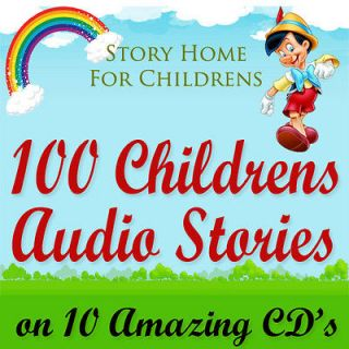 100 Childrens Audio Story Books on 10 CDs Classic Children Kids