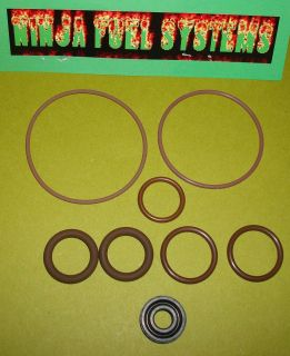 DELUXE FUEL PUMP SEAL KIT FOR ALL BARRY GRANT ELECTRIC PUMPS WITH