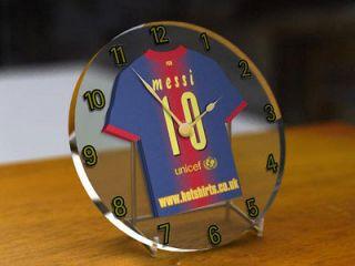 FC BARCELONA FOOTBALL CLUB SHIRT CLOCK   FREE PERSONALISATION