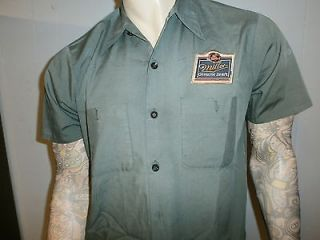vtg MGD BEER DELIVERY GUY WORK SHIRT Uniform PATCH Miller Genuine