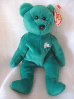TY BEANIE BABY ERIN THE IRISH BEAR COLLECTIBLE QUALITY RETIRED