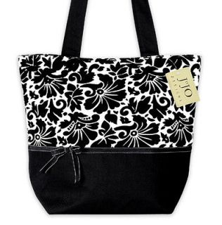 NEW SWEET JOJO DESIGNS BLACK AND WHITE WOMAN HANDBAG DIAPER BAG PURSE