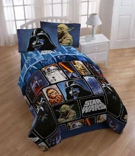 Star Wars Collage 4 piece twin size bed in bag with sheet set