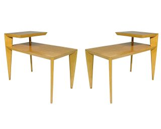 Mid Century Bedside Table Pair Conant Ball USA 1950s