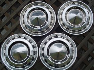 1956 CHEVROLET CHEVY BELAIR NOMAD BEL AIR HUBCAPS WHEEL COVERS ANTIQUE