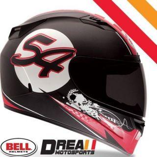BELL VORTEX B 54 RED BLACK FULL FACE MOTORCYCLE HELMET DOT SNELL