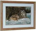 Nancy Glazier BRIAR PATCH Signed & Numbered w/coa Framed Lynx Cat Art