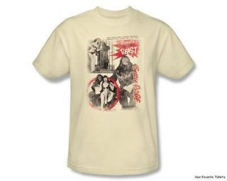 Licensed Bettie Page Beauty and the Beast Adult Shirt S 3XL