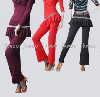 Latin dance dress pant modern dance fitness yoga belly dance trousers