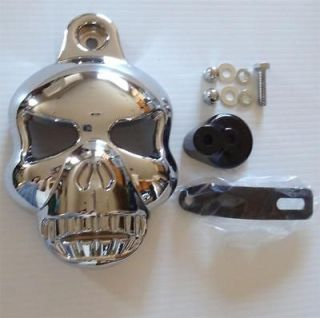 CHROME HORN COVER for 92 12 Harley Davidson Softail Dyna Glide Big