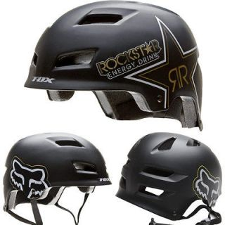 Fox Racing Rockstar Transition Hard Shell BMX Bike Helmet Matte Black