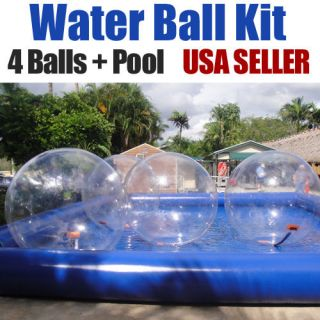 Walking Water Tizip Balls with Inflatable Pool Kit Zorb Hamster