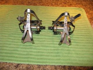 Bianchi Nuova Racing 12/V Pedals and Rekord Toe Clips