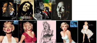 Licensed Raschel Plush Blanket BoB Marley, Marilyn Monroe, Scarface