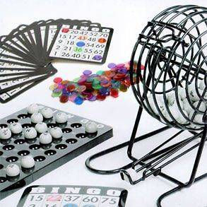 New Complete Bingo Game Kit Set Cage Cards Balls Free 3 Day Shipping