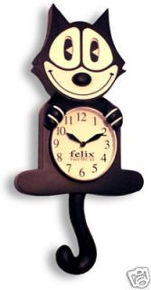 Vintage Spartus Cat Electric Wall Clock Moving Eyes Runs
