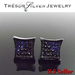 mens black blue cz crystal micro paved iced out hip hop bling kite