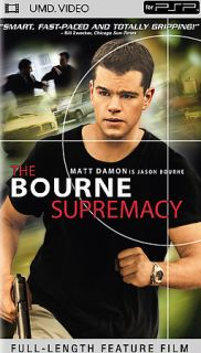 NEW The Bourne Supremacy UMD Movie for PSP Video SEALED