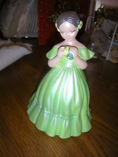 Vintage HOLLAND MOLD Girl in GREEN Dress FIGURINE