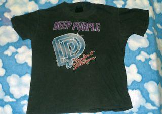 Purple t shirt L concert tour ritchie blackmore 80s Soft THiN tee