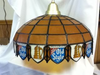 JQ3 OLD STYLE BEER SIGN LIGHTED POOL TABLE LIGHT LAMP VINTAGE
