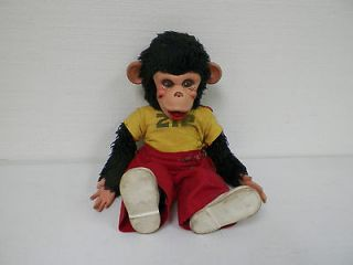 VINTAGE RUSHTON CO RUBBER FACE ZIP MONKEY HOWDY DOODY 15 GOOD USED