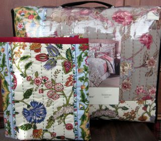 Noble Excellence ROSEWOOD Pieced Full Queen Cotton Quilt + Shams 3 PC