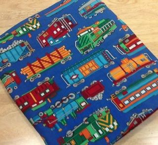 Train Locomotive Baby Boys Bedroom Curtain Valence Fabric 170 LONG