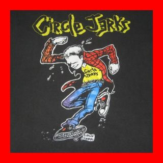 1989 CIRCLE JERKS ORIGINAL VTG TOUR T SHIRT BAD OTIS SHAWN KERRI HC