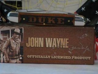 Case XX Muskrat Chestnut Bone Handle John Wayne D U K E Knife