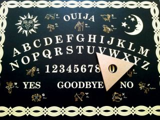 new large size ouija board black gold ouija board beware