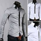 2012 New Designer Casual Slim Mens Shirts Tee Tops Dress Fit Long