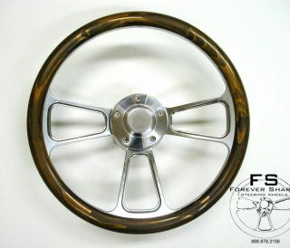 boat steering wheel wood