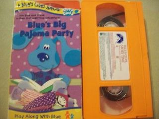 VHS Movies   Blues Clues   STORY TIME & BLUES BIG PAJAMA PARTY