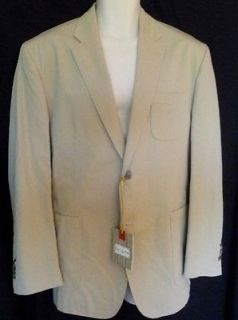 Robert Graham M.J.Q.Tan Solid Mens Blazer Jacket 40 NWT
