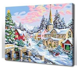 paint by numbers 16*20 kit DIY painting Merry Christmas Home deco