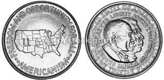 Half Dollar, 1951, Booker T. Washington and George Washington Carver