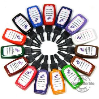 High Quality 15 Color Bottle of Tattoo Inks Pigment 1/2 oz Set