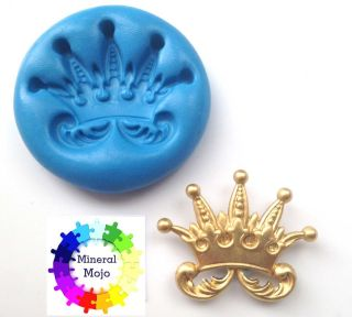 Royal Crown Silicone Mould Cupcake Card Toppers, Sugarcraft, Fimo
