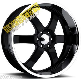 24 INCH BOSS WHEELS 330 BLACK RIMS TIRES AVALANCHE 2007 2008 2009