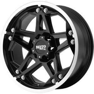 17 inch 17x8 Moto Metal 960 black wheels rims Hummer H2