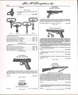 Ad Air Rifle Benjamin Super Hand Pump BB Gun Gas Pistol ORIGINAL AD