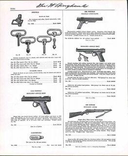 Ad Air Rifle Benjamin Super Hand Pump BB Gun Gas Pisol ORIGINAL AD