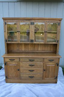Ranch Oak Acorn Brown China Cabinet