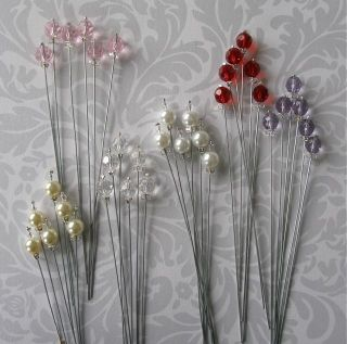 Bridal Bouquet Jewels Stems, Pearls or Crystals, Wedding, Bridal