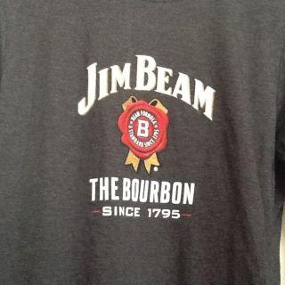 Jim Beam Bourbon Graphic T Shirt Womens Sz Sm/M Bella Long Sleeve THE
