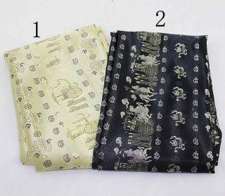 Wholesale High Quality Chinese Silk brocade Retro Satin Fabrics Black