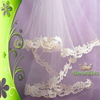 Ivory Wedding Bridal Flower Girl Communion Veil 402