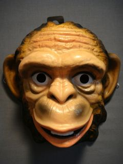 MONKEY SAFARI JUNGLE ZOO ANIMAL HALLOWEEN MASK PVC NEW