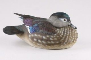 Tan Brunet, Ducks Unlimited Wood Duck Hen 2001 2012, Full Decorative